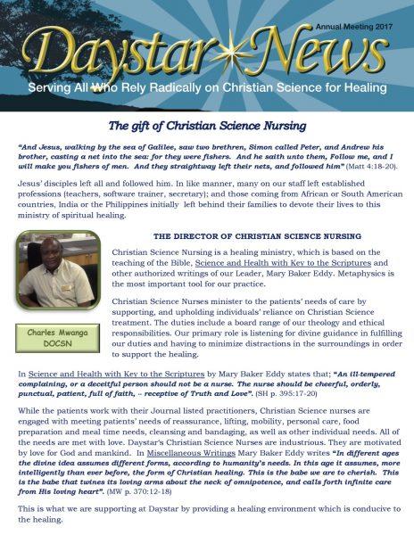 Daystar 2017 Newsletter