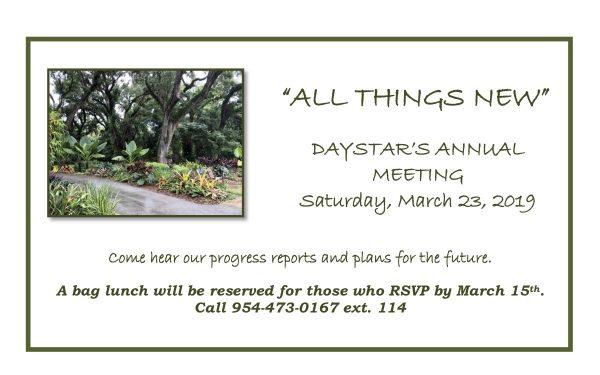 Daystar Annual Meeting announcement
